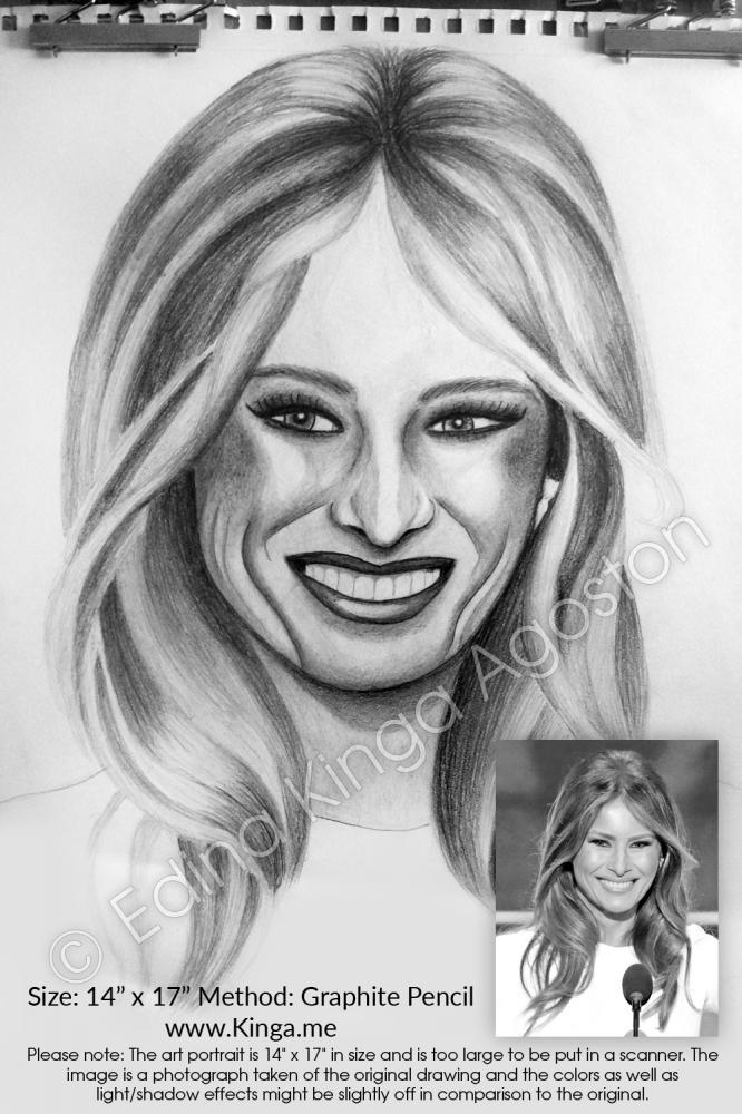 Melania Trump by Kinga